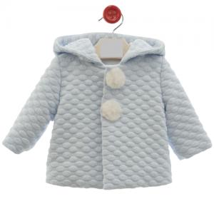 Abrigo de bebe con capucha