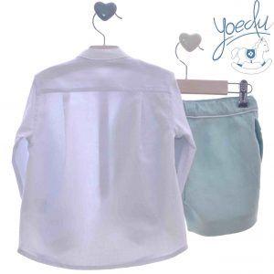 Conjunto camisa y bermuda Yoedu atrás