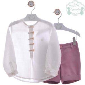 Conjunto niño camisa y pantalón Marta y Paula