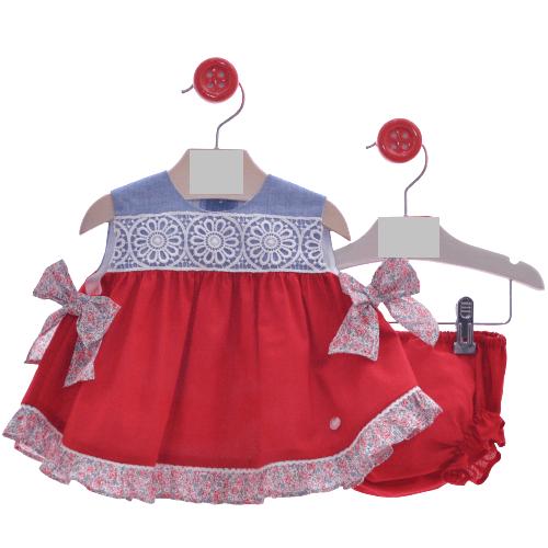 Conjunto vestido y braguita familia Roma