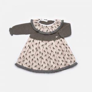 Vestido marengo de Juliana