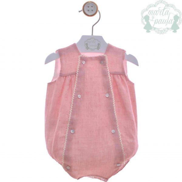 Pelele bebé rosa Marta y Paula