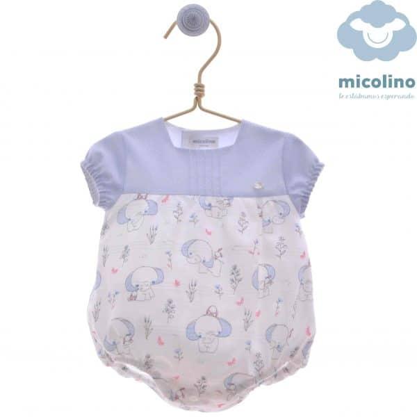 Pelele de bebes elefante Micolino