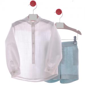 Traje infantil de camisa y bermudas
