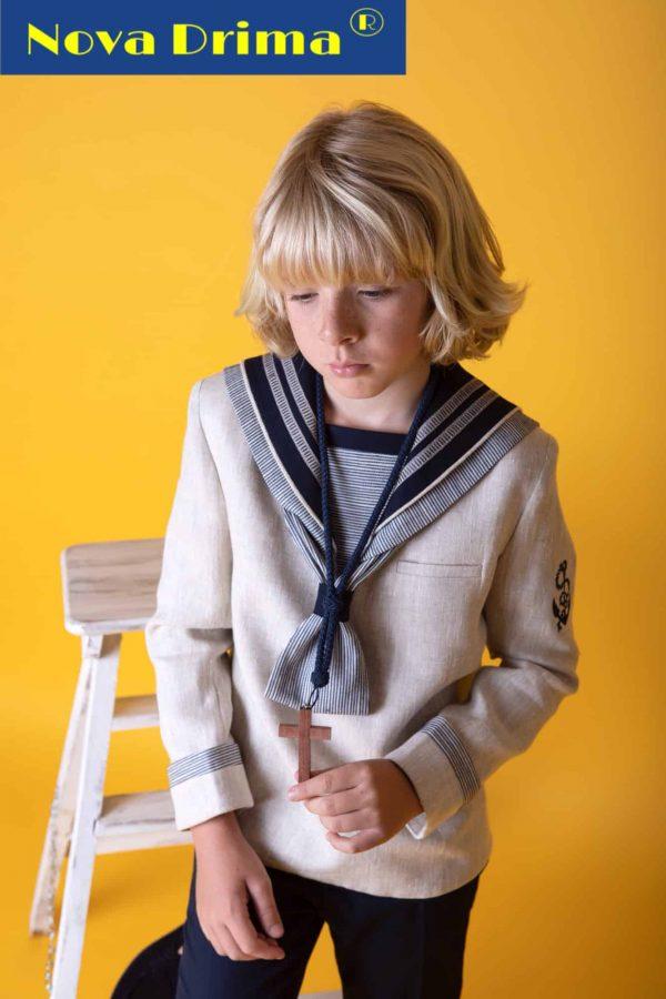 Traje marinero beige