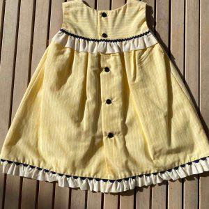 Vestido amarillo Miranda atrás