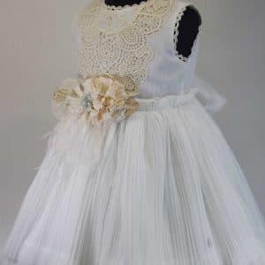 Vestido blanco crudo Basmarti