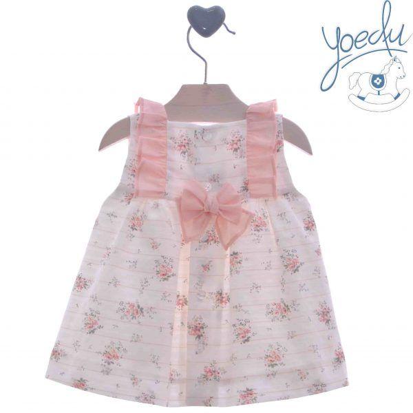 Vestido de bebe familia Mimosa Yoedu atrás