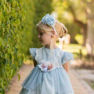 Vestido de ceremonia azul Dolce Petit nuevo
