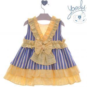 Vestido infantil familia Limonero Yoedu atrás