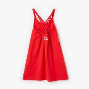 Vestido rojo Lois atrás