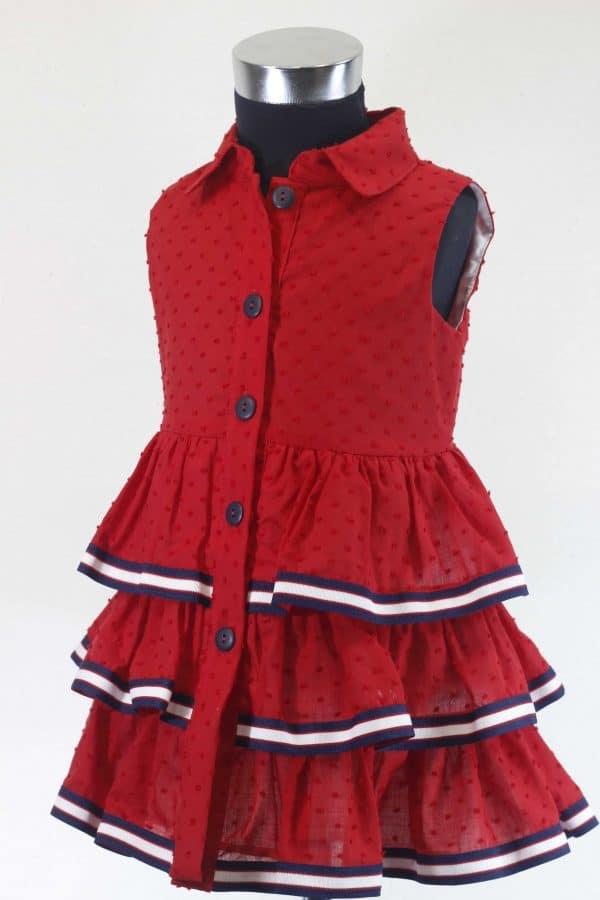 Vestido rojo plumeti Basmarti