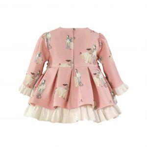 Vestido rosa de caballos Miranda