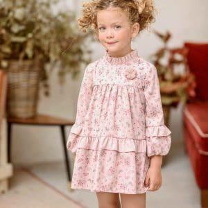 Vestido rosa de flores Yoedu modelo