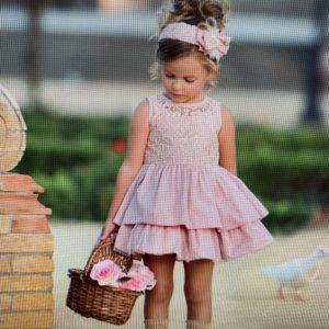 Vestido rosa empolvado Miranda