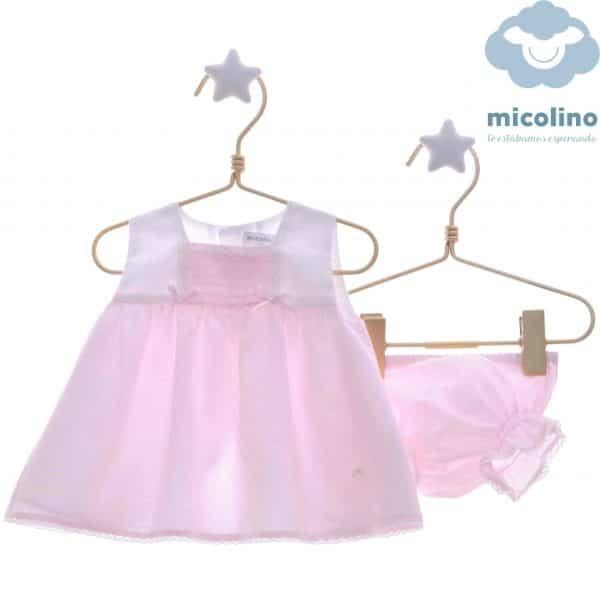 Vestido y braguita de bebé Micolino