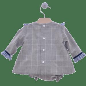 Vestido y braguita gris atras