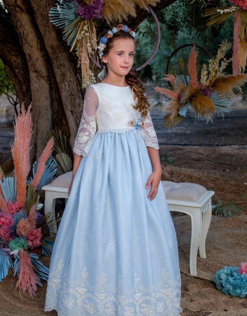 Vestido azul celeste Lilus